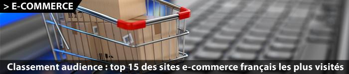 Classement des sites e-commerce selon leur audience au 3ème trimestre 2015