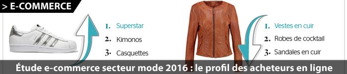 Etude sur le e-commerce de vêtements et de mode 2016