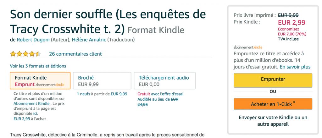 """Amazon – Paiement en 1 clic du Kindle Store """"Acheter Maintenant"""""""