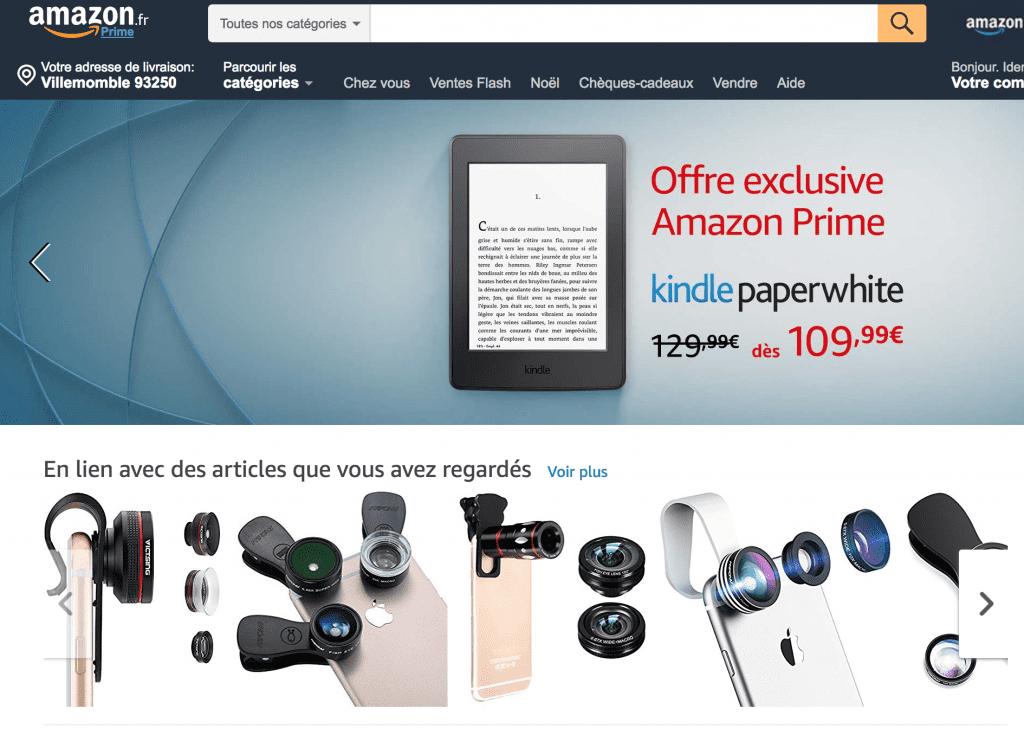 Les recommandations d'Amazon