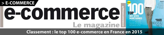 Top 100 e-commerçants en France en 2015