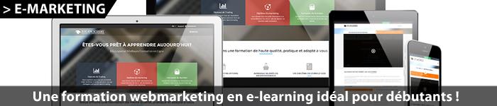 Formation webmarketing en e-learning pour débutants