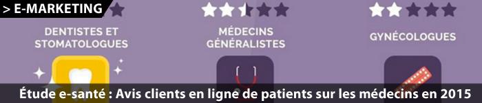 Etude sur les avis de patients en ligne en 2015