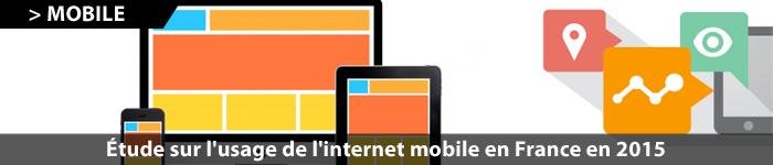 Étude sur l'Internet mobile en 2015