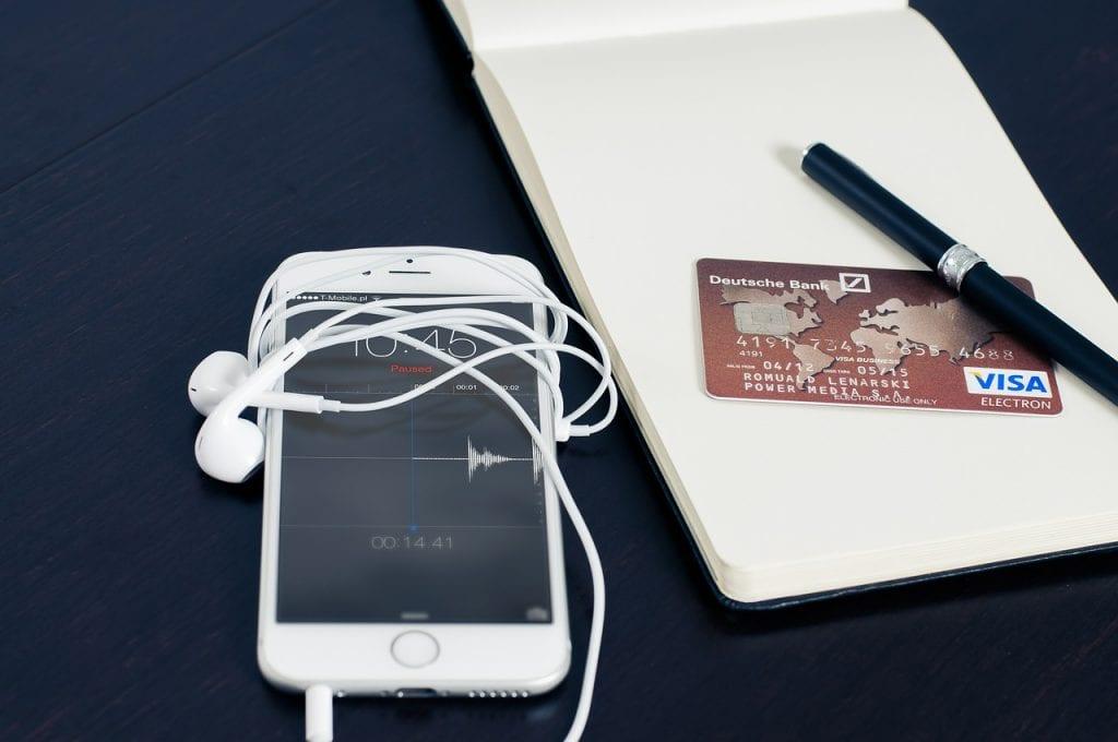 smartphone carte bleue visa