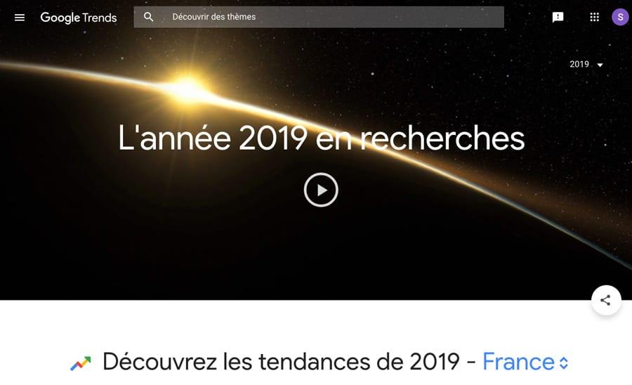 Classement 2019 des 10 mots clés les plus recherchés sur Google en France
