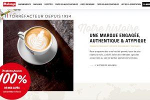 Page d'accueil du site Malongo