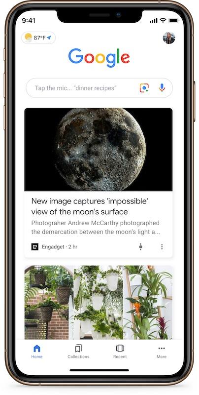 Google Discover sur smartphone