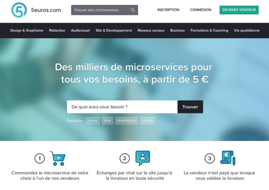 La plateforme 5 euros de freelances en rédaction web et marketing digital