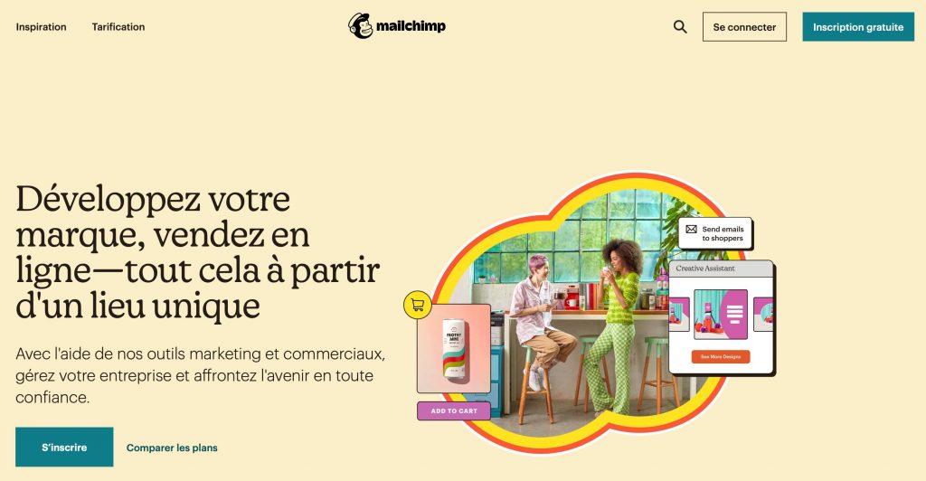 Solution marketing tout en un Mailchimp